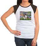 Lilies / Toy Fox T Women's Cap Sleeve T-Shirt