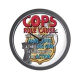 Cops Rule Wall Clock