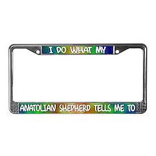 Do what Anatolian Shepherd License Plate Frame