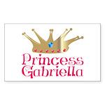 Princess Gabriella Rectangle Sticker