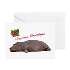 Season's Greetings Hippo Blank Cards (Pk of 10)