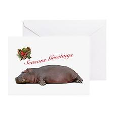 Season's Greetings Hippo Greeting Cards (Pk of 10)