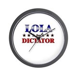 LOLA for dictator Wall Clock