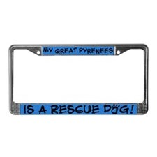 Rescue Dog Great Pyrenees License Plate Frame