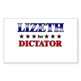 LIZETH for dictator Rectangle Decal