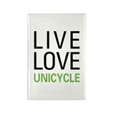 Live Love Unicycle Rectangle Magnet (10 pack)