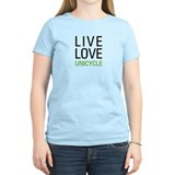 Live Love Unicycle T-Shirt