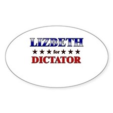 LIZBETH for dictator Oval Decal