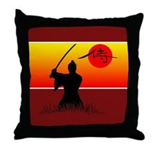 Samurai Spirit 2 Throw Pillow