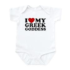 I love My Greek Goddess Infant Bodysuit