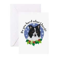 Border Collie Christmas Greeting Cards (Package of