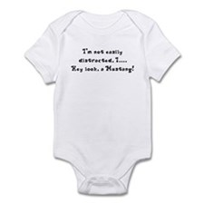 Distracted by Mustangs Infant Bodysuit