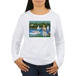 Bassin/Shih Tzu (P) Women's Long Sleeve T-Shirt
