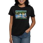 Bassin/Shih Tzu (P) Women's Dark T-Shirt