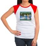 Bassin/Shih Tzu (P) Women's Cap Sleeve T-Shirt