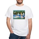 Bassin/Shih Tzu (P) White T-Shirt