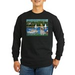 Bassin/Shih Tzu (P) Long Sleeve Dark T-Shirt