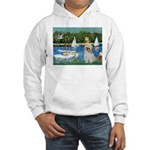 Bassin/Shih Tzu (P) Hooded Sweatshirt