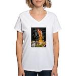 MidEve/Shih Tzu (P) Women's V-Neck T-Shirt