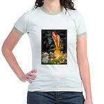 MidEve/Shih Tzu (P) Jr. Ringer T-Shirt