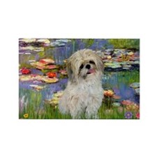 Lilies /Shih Tzu (p) Rectangle Magnet