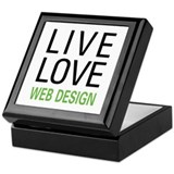 Live Love Web Design Keepsake Box