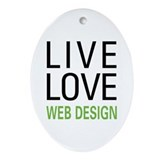 Live Love Web Design Oval Ornament