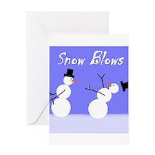 Snow Blows Greeting Card