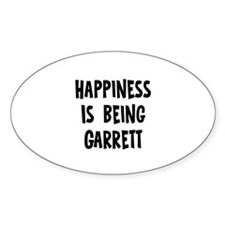 Happiness is being Garrett Oval Decal