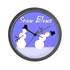 Snow Blows Wall Clock