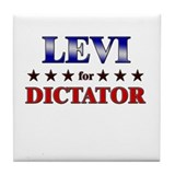 LEVI for dictator Tile Coaster