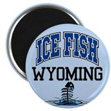 Ice Fish Wyoming Magnet