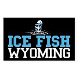 Ice Fish Wyoming Rectangle Bumper Stickers