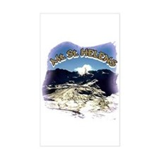 Mount St. Helens Up Close Rectangle Decal