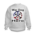 War Dog K9 Hero Kids Sweatshirt