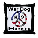 War Dog K9 Hero Throw Pillow