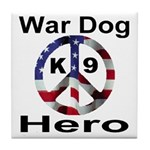 War Dog K9 Hero Tile Coaster