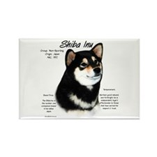 Shiba Inu (blk/tan) Rectangle Magnet (10 pack)