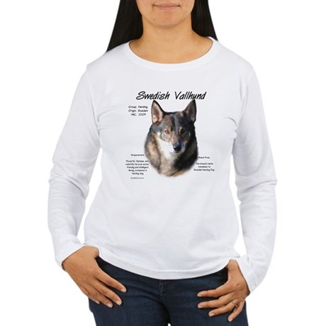 Swedish Vallhund Women's Long Sleeve T-Shirt