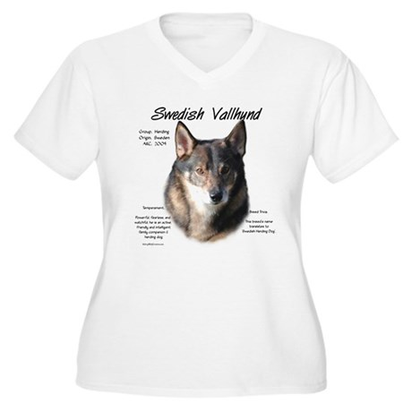 Swedish Vallhund Women's Plus Size V-Neck T-Shirt