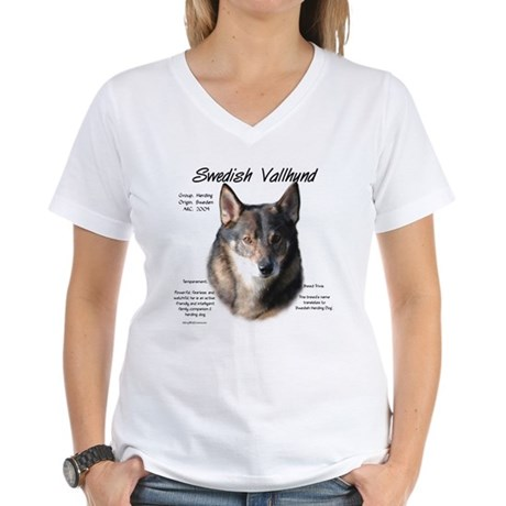 Swedish Vallhund Women's V-Neck T-Shirt