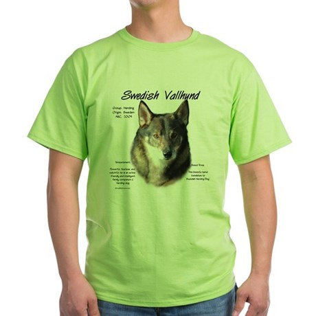 Swedish Vallhund Green T-Shirt