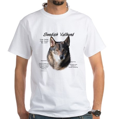 Swedish Vallhund White T-Shirt