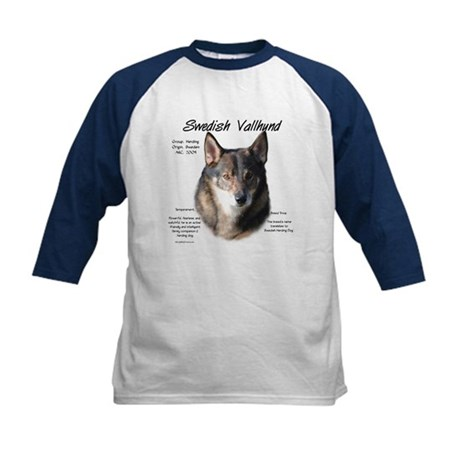 Swedish Vallhund Kids Baseball Jersey