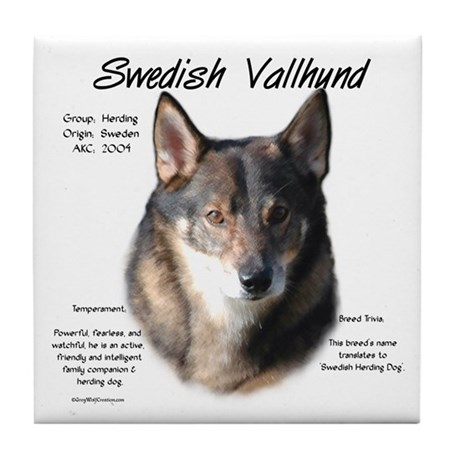 Swedish Vallhund Tile Coaster