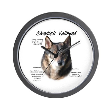 Swedish Vallhund Wall Clock