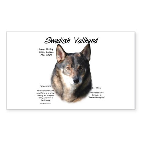Swedish Vallhund Rectangle Sticker