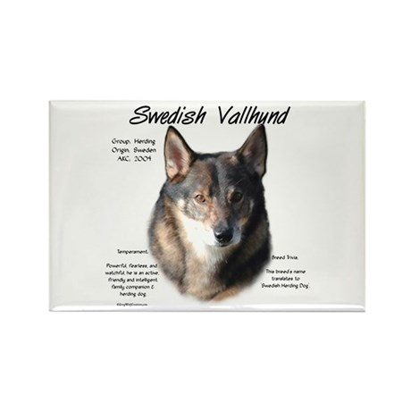 Swedish Vallhund Rectangle Magnet (10 pack)
