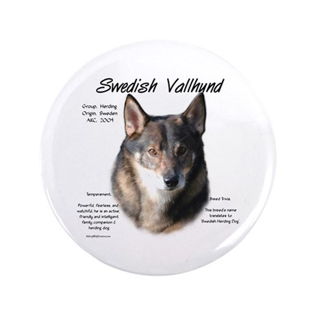 "Swedish Vallhund 3.5"" Button (100 pack)"