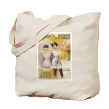 Vintage French Lingerie Ad Tote Bag